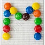 Букви от бонбони М§М