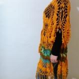 Дамско пончо/лятна рокля изплетена на една кука
