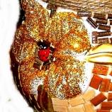 ръно изработена керамина релефна ваза