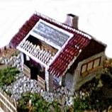 макет на къща с двор