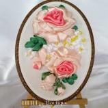 Бродерия с ленти - Рози