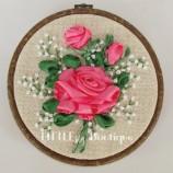 Бродерия с ленти - Роза