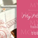 Бродирана памучна покривка за маса