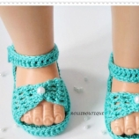 Плетени сандалети
