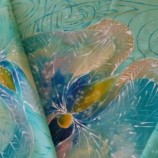 ''Аромат на орхидеи''6-Шал ръчно рисуван