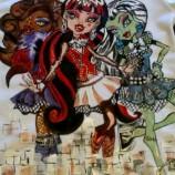 Monster High-ръчно рисувана блузка