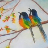 Couple Of Birds On A Tree