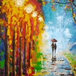 Original Painting - Walk In The Rain